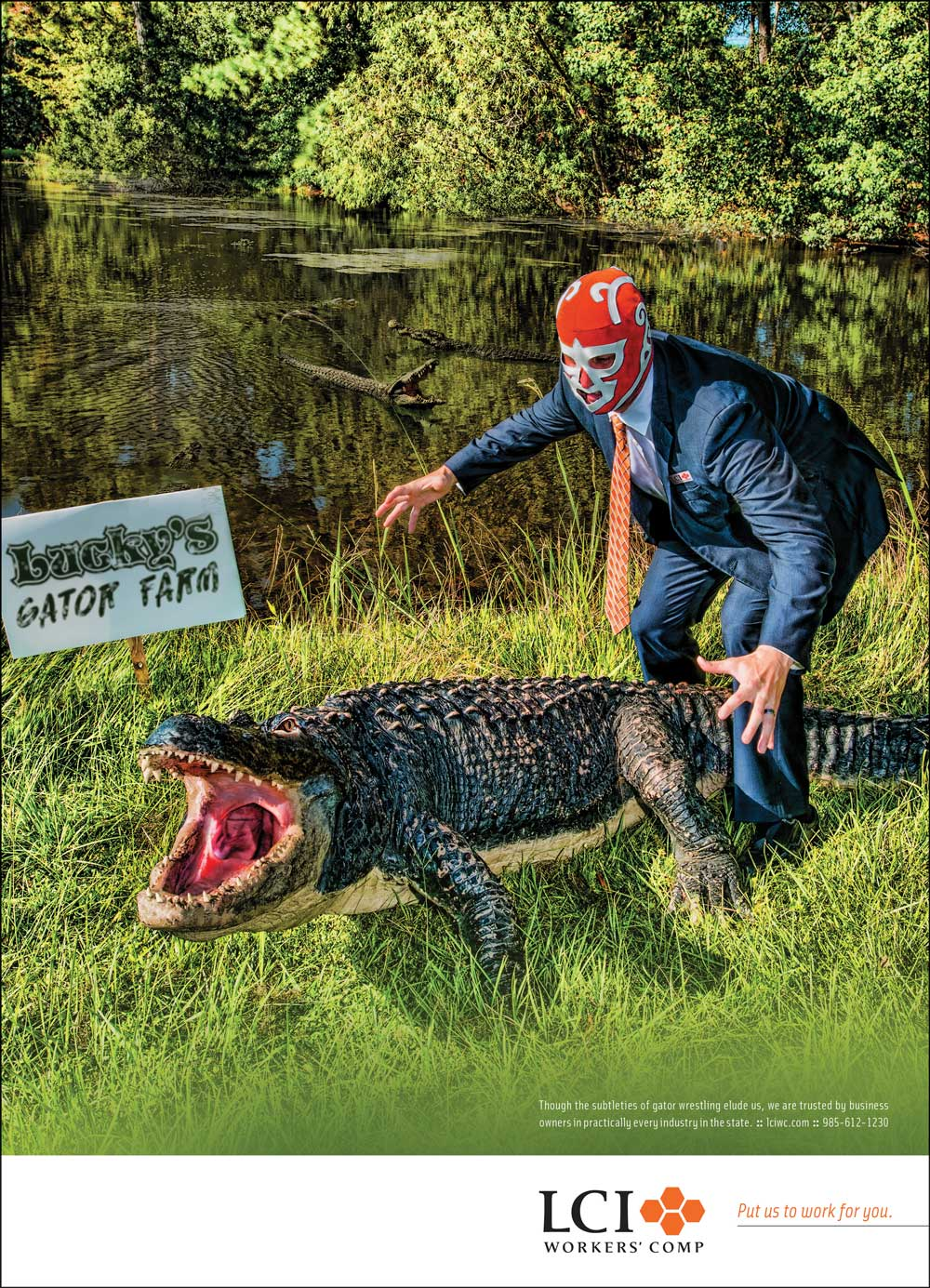 LCI Gator Farm Ad Put Us To Work For You campaign