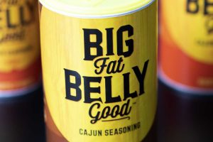 Cerberus designed packaging for Big Fat Belly Good Cajun Seasoning