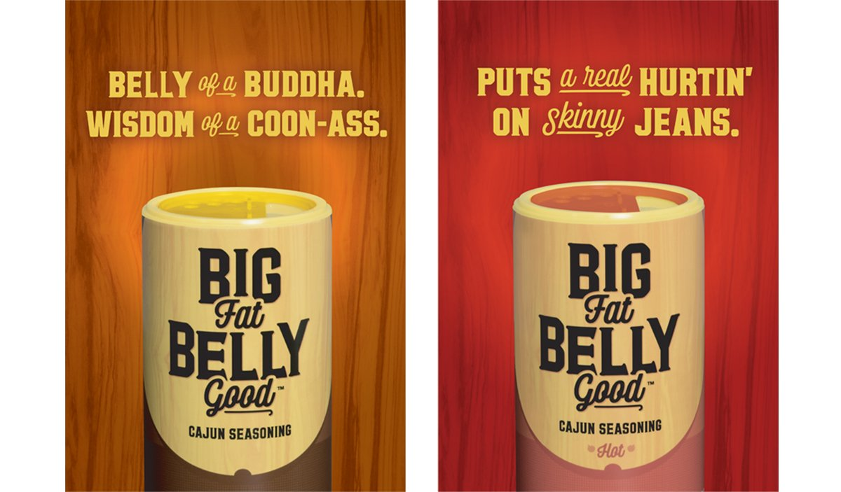 Big Fat Belly Good outdoor campaign ads.