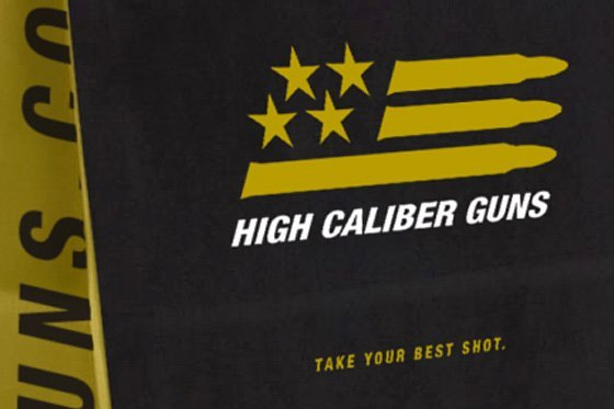 Merchandise bag designed for High Caliber Guns by Cerberus Agency.