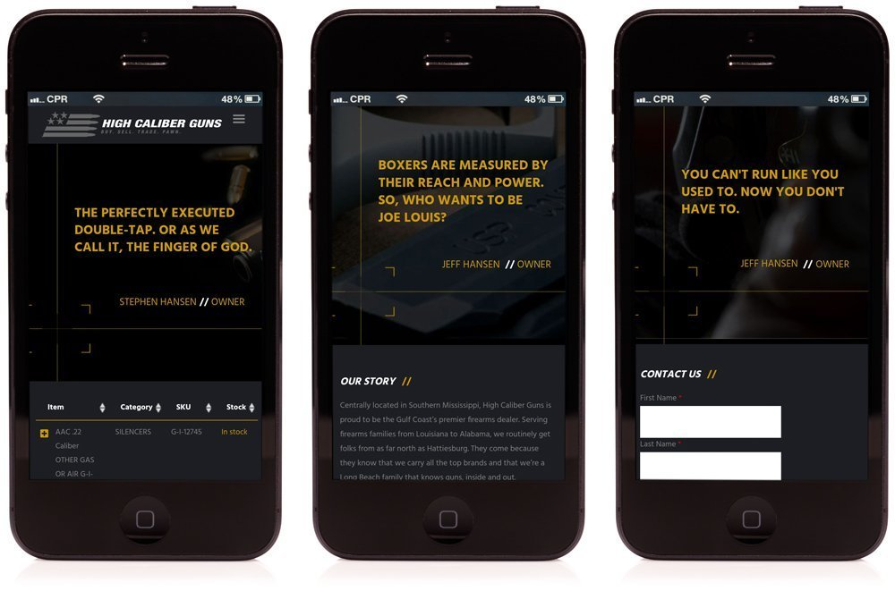 Mobile friendly website design by Cerberus.