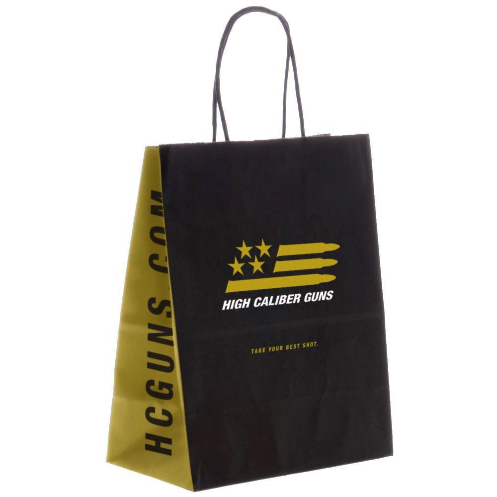 Branded merchandise bag for High Caliber Guns in Long Beach.