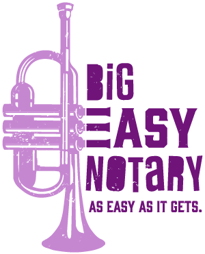 Big Easy Notary logo - As easy as it gets.