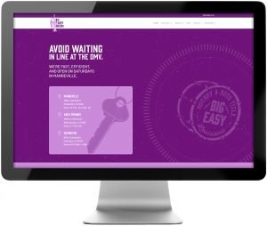 New homepage design on the Big Easy Notary updated website.