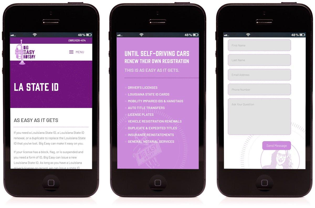 Mobile friendly responsive website design by Cerberus Agency.