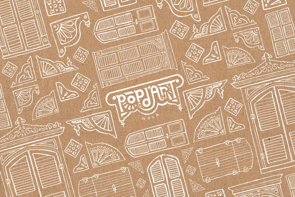Illustration design for Pop d'Art packaging designed by Cerberus Agency.