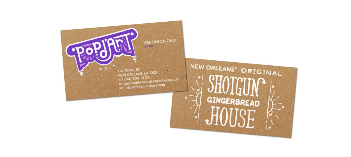 Business card design for Pop d'Art created by Cerberus.