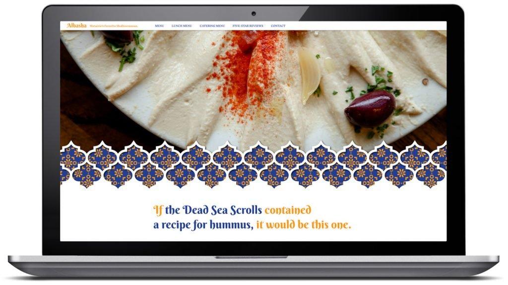 Responsive website design for Albasha Greek and Lebanese Cafe, designed and programmed by Cerberus Agency.