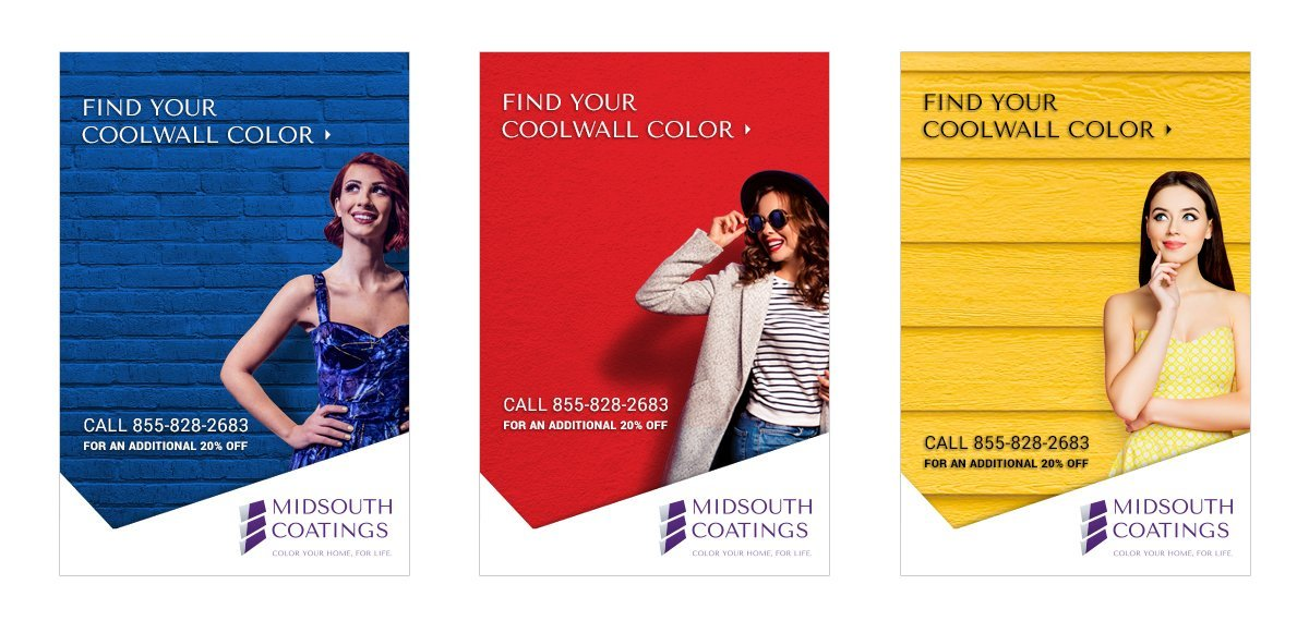 Digital ad campaign for MidSouth Coatings, designed and implemented by Cerberus Agency.