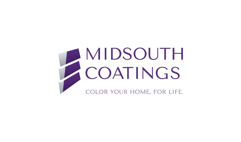 Logo design for MidSouth Coatings, designed by Cerberus Agency.