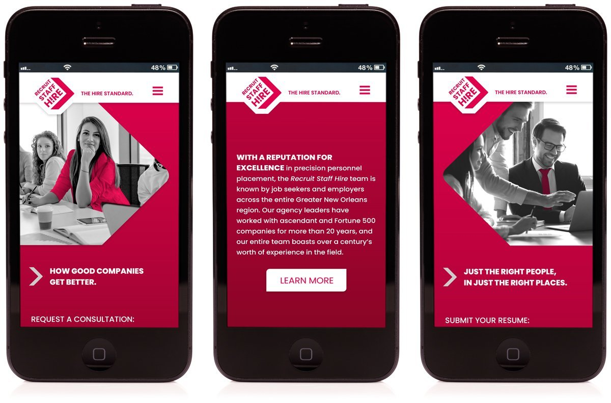 Cerberus Agency launched a new, responsive website for Recruit Staff Hire in 2021.
