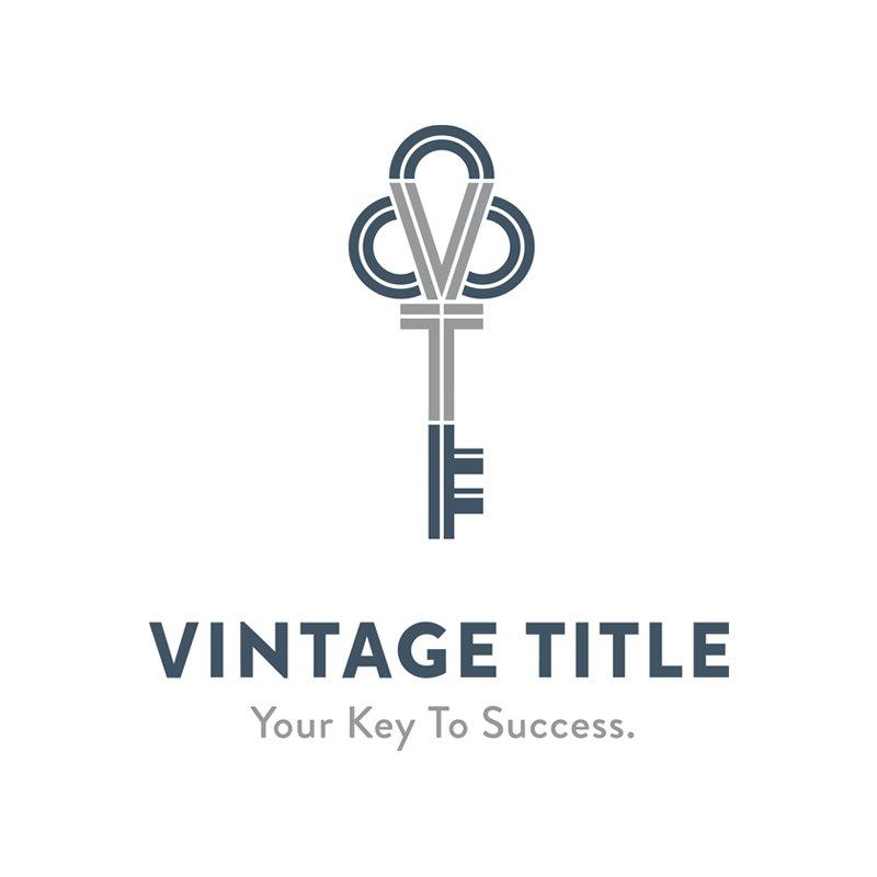 Logo redesign for Vintage Title, designed by Cerberus Agency.