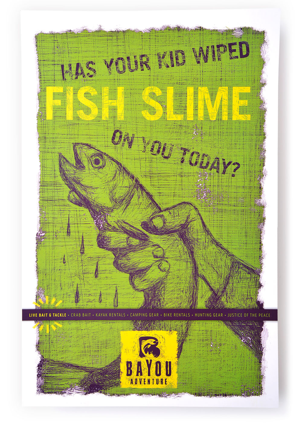 Bayou Adventure Poster Design - Fish Slime