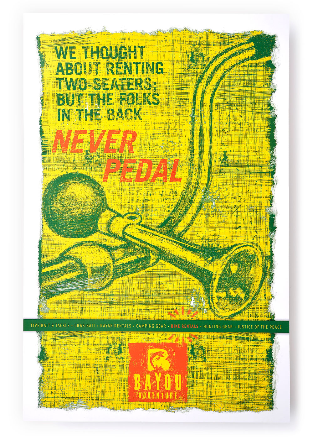 Bayou Adventure Poster Design - Never Pedal