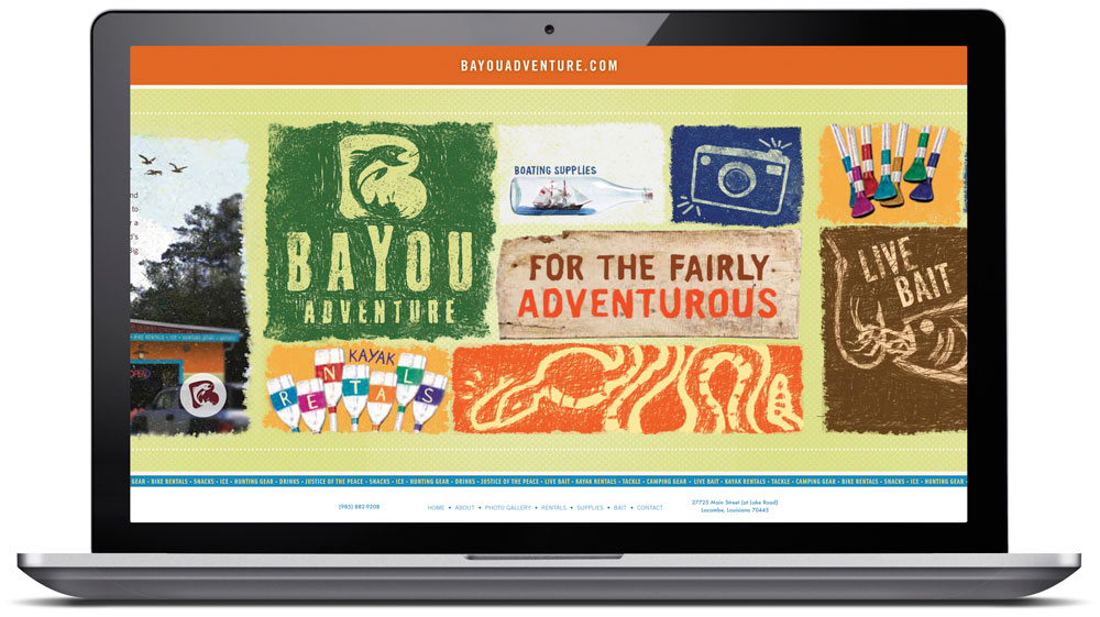 Bayou Adventure Website Design