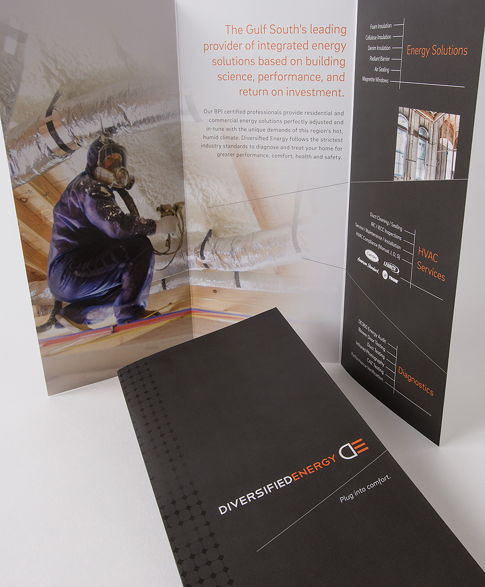 Diversified Energy Brochure and collateral package by Cerberus, a full-service design, marketing, and web development company in New Orleans.