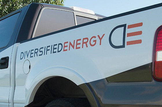 Diversified Energy logo and brand development by Cerberus in New Orleans.