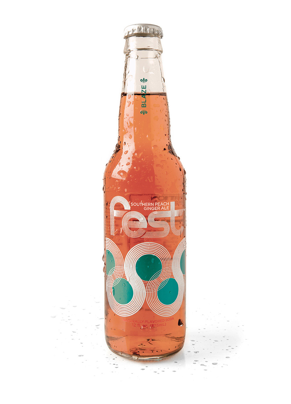 Fest Ice Cold Southern Peach Ginger Ale Soda